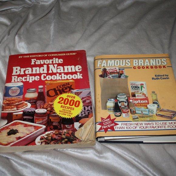 Vintage Other - Vintage 81-82 Name brands cook books lot